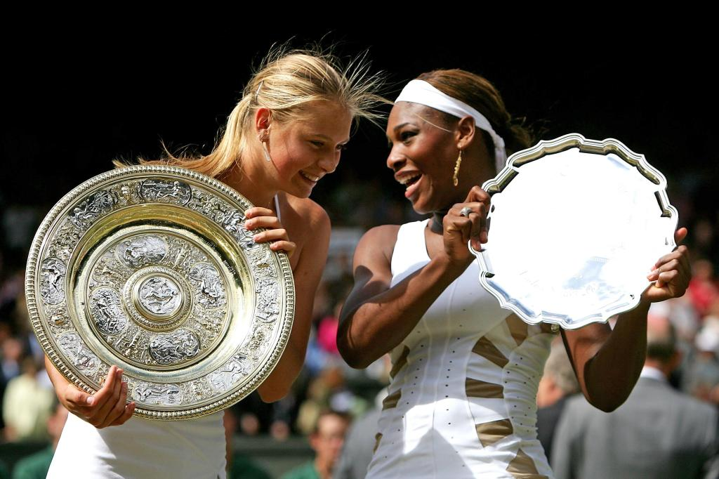 Sharapova Serena Williams Wimbledon 2004 Final