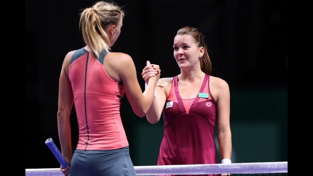 Sharapova Radwanska WTA Finals