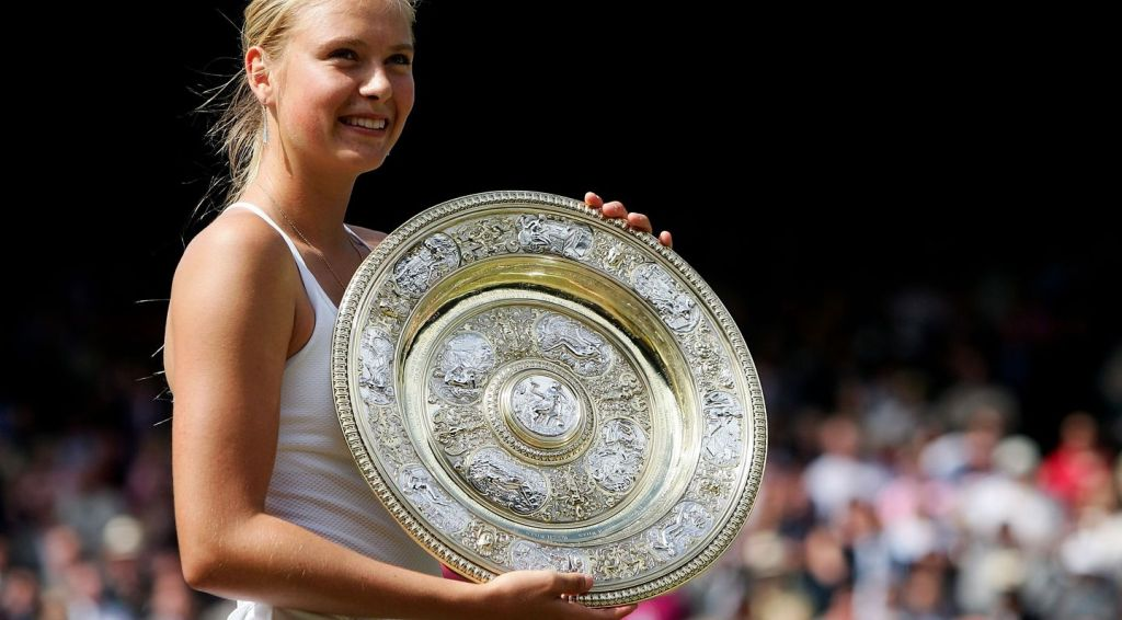 Sharapova 2004 Wimbledon Trophy